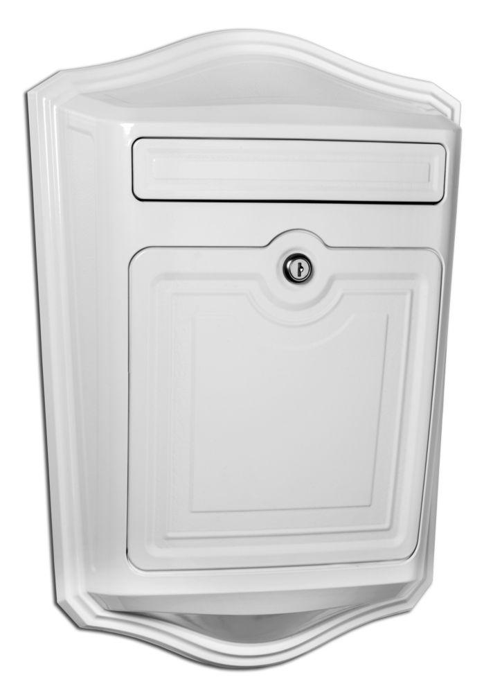Boîte aux lettres murale blanc Maison avec serrure