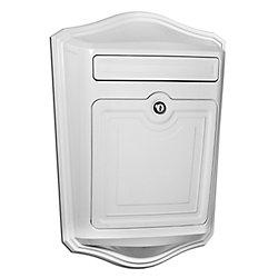 Architectural Mailboxes Maison Locking Wall Mount Mailbox White
