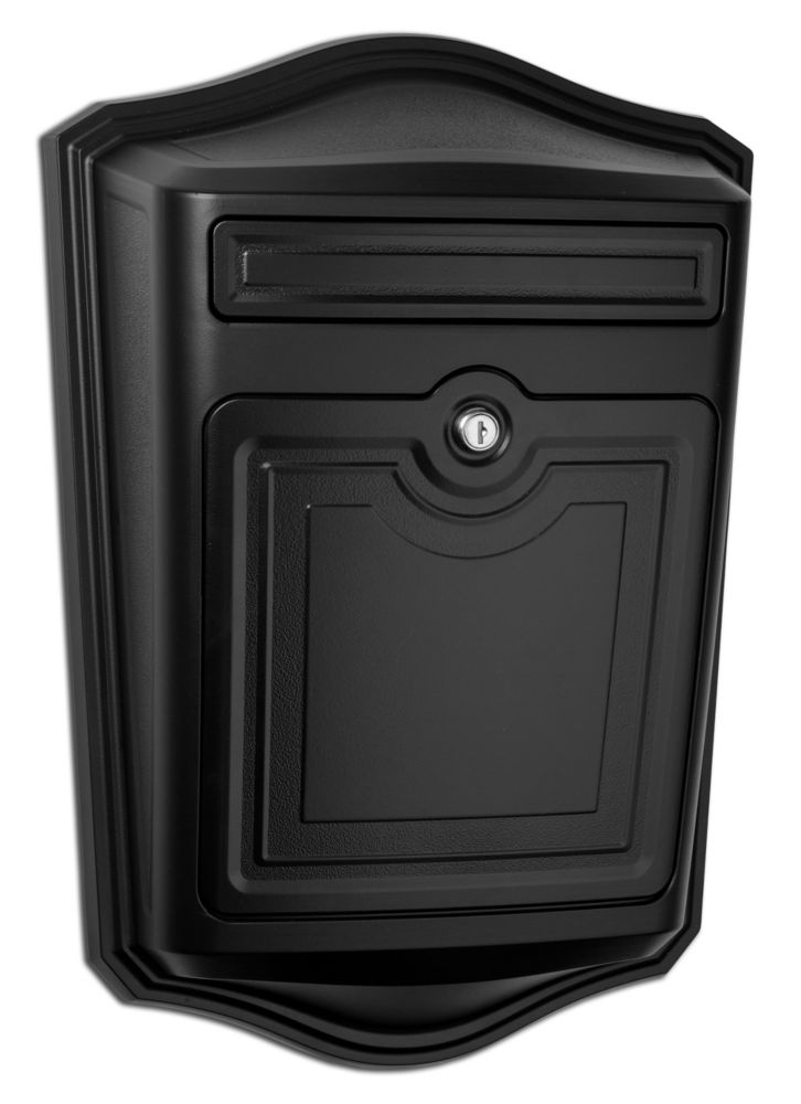 Maison Locking Wall Mount Mailbox Black