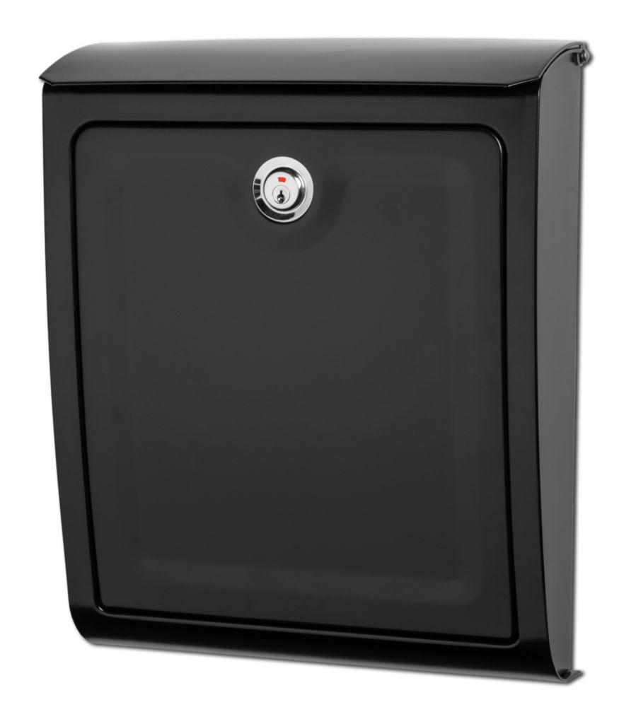 Sienna Locking Wall Mount Mailbox Black