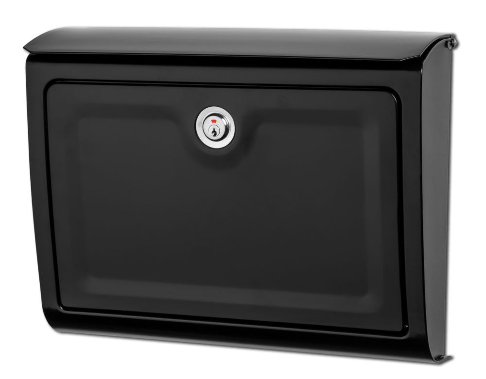 Whitman Locking Wall Mount Mailbox Black