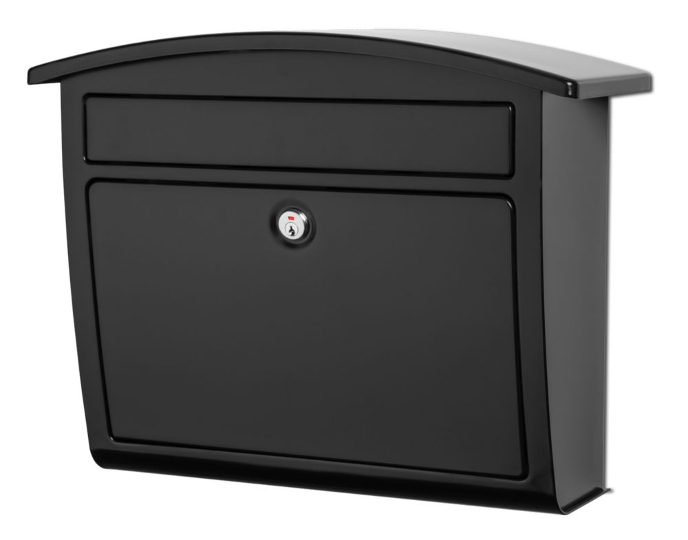 Dal Rae Locking Wall Mount Mailbox Black