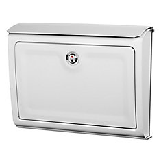 architectural mailboxes bo te aux lettres murale blanc whitman avec serrure home depot canada. Black Bedroom Furniture Sets. Home Design Ideas