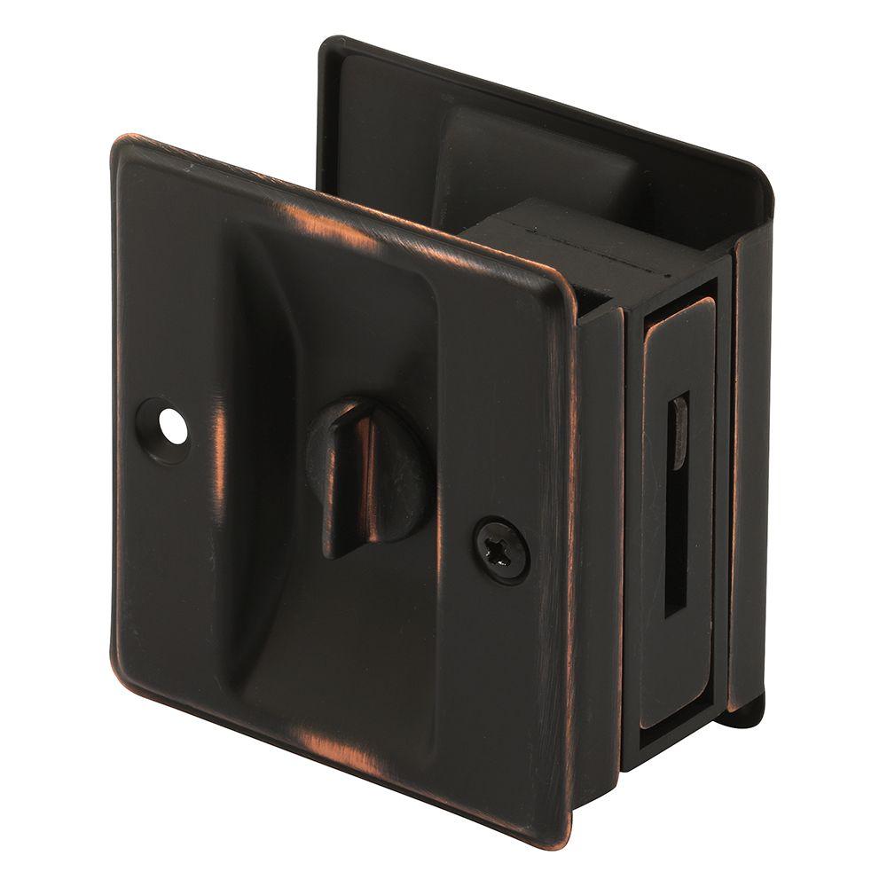 Classic Bronze Pocket Door Privacy Latch
