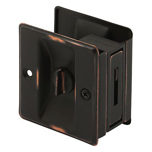 Prime-Line Classic Bronze Pocket Door Privacy Latch