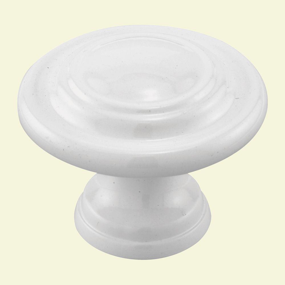 Bouton de porte pliante double � Blanc 4,4 cm (1-3/4 po).