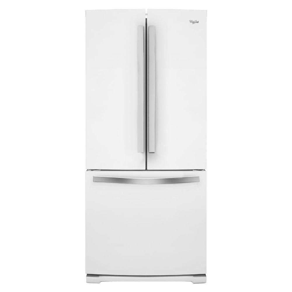 Whirlpool 19 7 cu ft french door refrigerator in white ice the home depot canada for 19 cu ft refrigerator french door