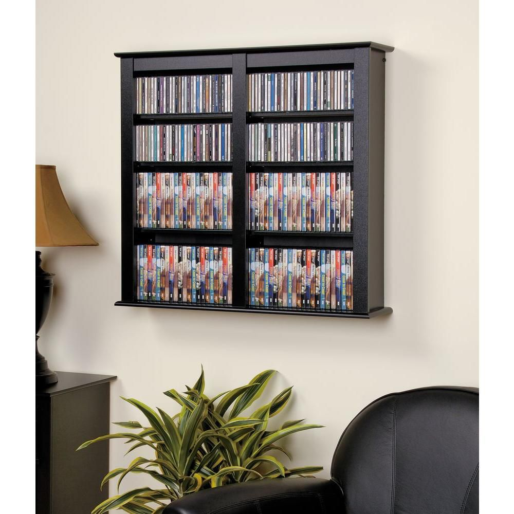 Black Double Wall Mounted Storage