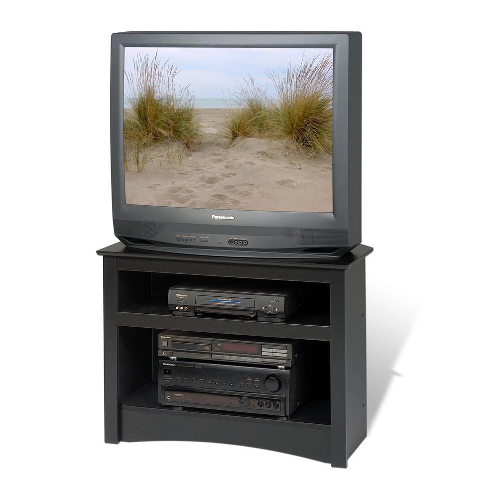 Meuble dangle pour téléviseur, noir