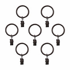 5/8 Inch Clip Rings (7/pk) In Toasted Copper Finish
