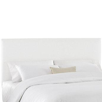 Skyline Furniture Housse Pour Tete De Lit Double En Tissu Blanc