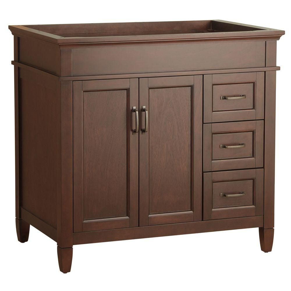 Ashburn 36-Inch  W by 21 1/2 D Vanity Cabinet in Mahogany