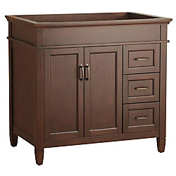 Foremost International Ashburn 36-inch W Bath Vanity Cabinet Only in Mahogany