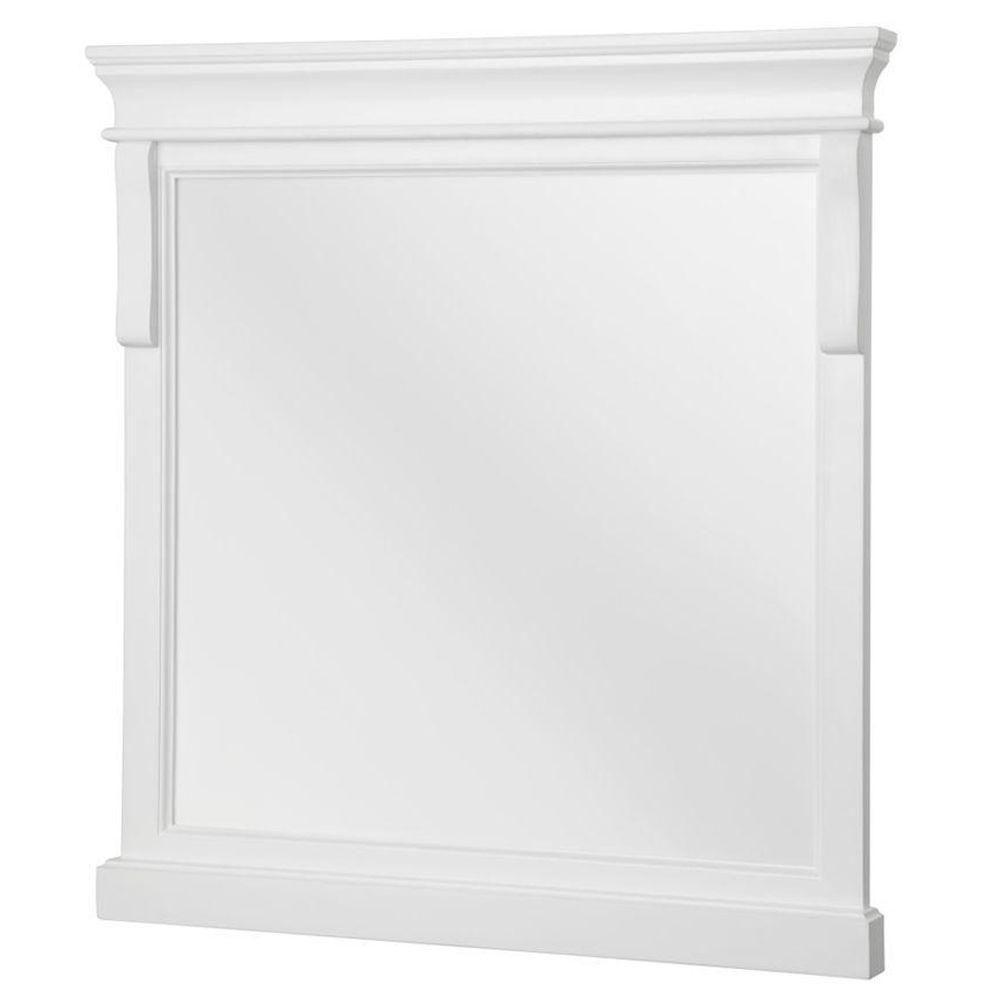 Naples White 24 Inch Mirror, 24 Inch W x 2 Inch D x 32 Inch H