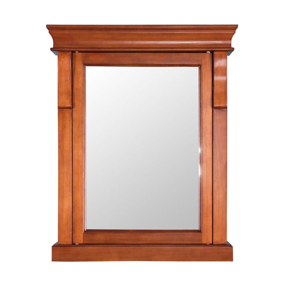 Foremost International Naples 25-inch W x 31-inch H x 8-inch D Surface-Mount Bathroom Medicine Cabinet in Warm Cinnamon