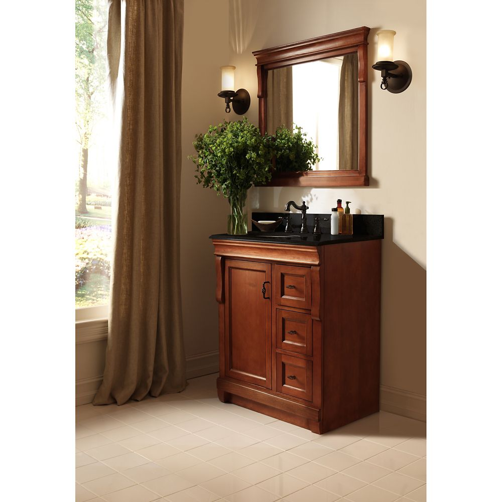 Foremost International Naples 24 Inch W Vanity In Warm Cinnamon Finish