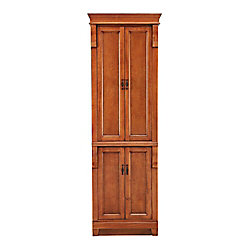 Foremost Naples 24-inch W x 18-inch Dx 74-inch H Bathroom Linen Cabinet in Warm Cinnamon