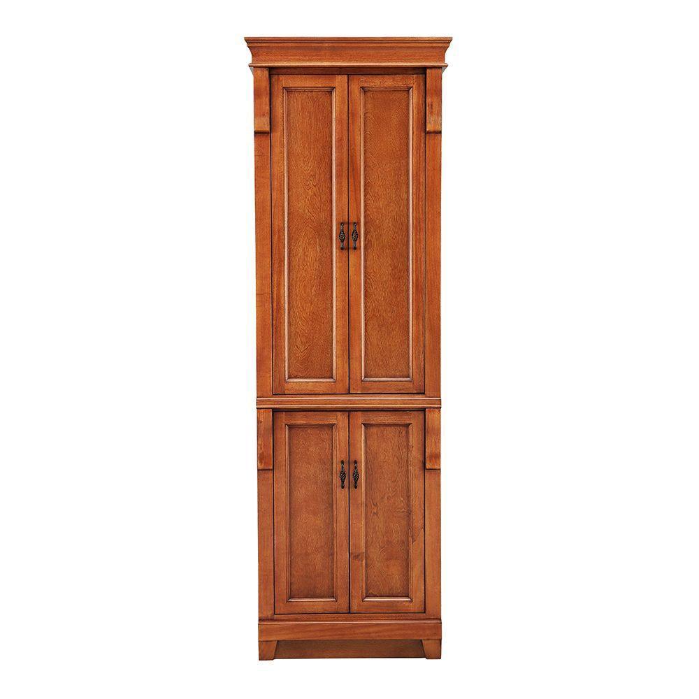 Foremost International Naples 24-inch W x 18-inch Dx 74-inch H Bathroom Linen Cabinet in Warm Cinnamon