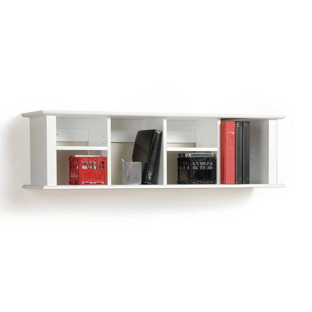 White Wall Mounted Desk Hutch
