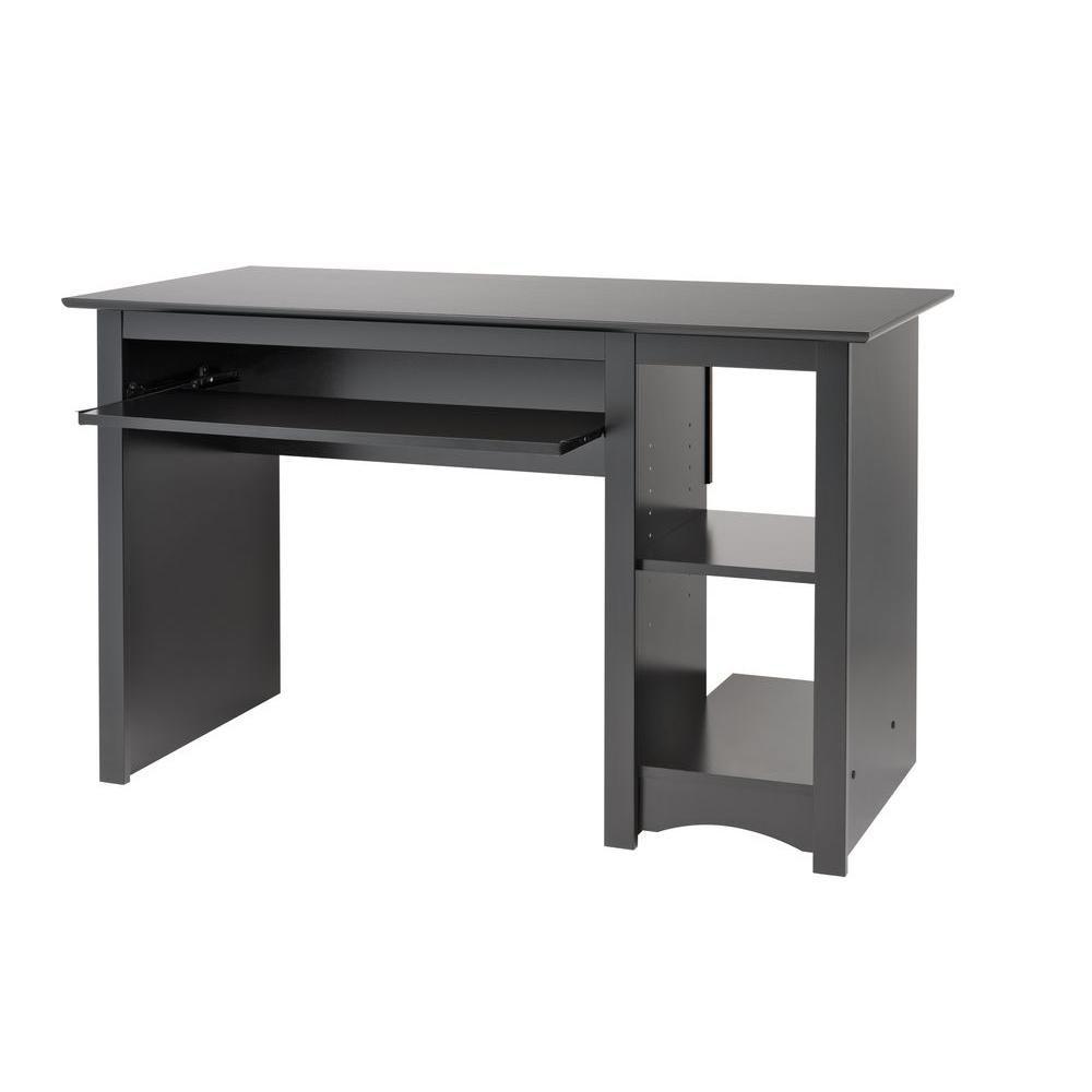 Prepac Black Computer Desk The Home Depot Canada