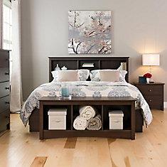 Espresso 48-inch x 20-inch x 15.75-inch Solid Wood Frame Bench in Espresso