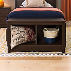 Espresso 36.25-inch x 20-inch x 15.75-inch Solid Wood Frame Bench in Brown