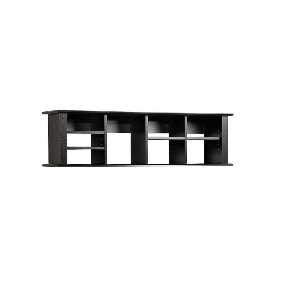 Black Wall Mounted Desk Hutch