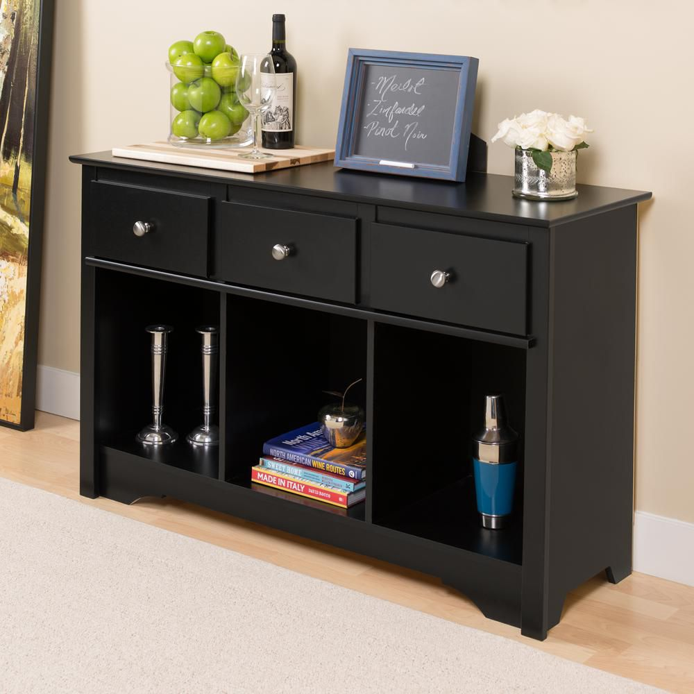 prepac meuble de rangement pour salon noir home depot canada. Black Bedroom Furniture Sets. Home Design Ideas
