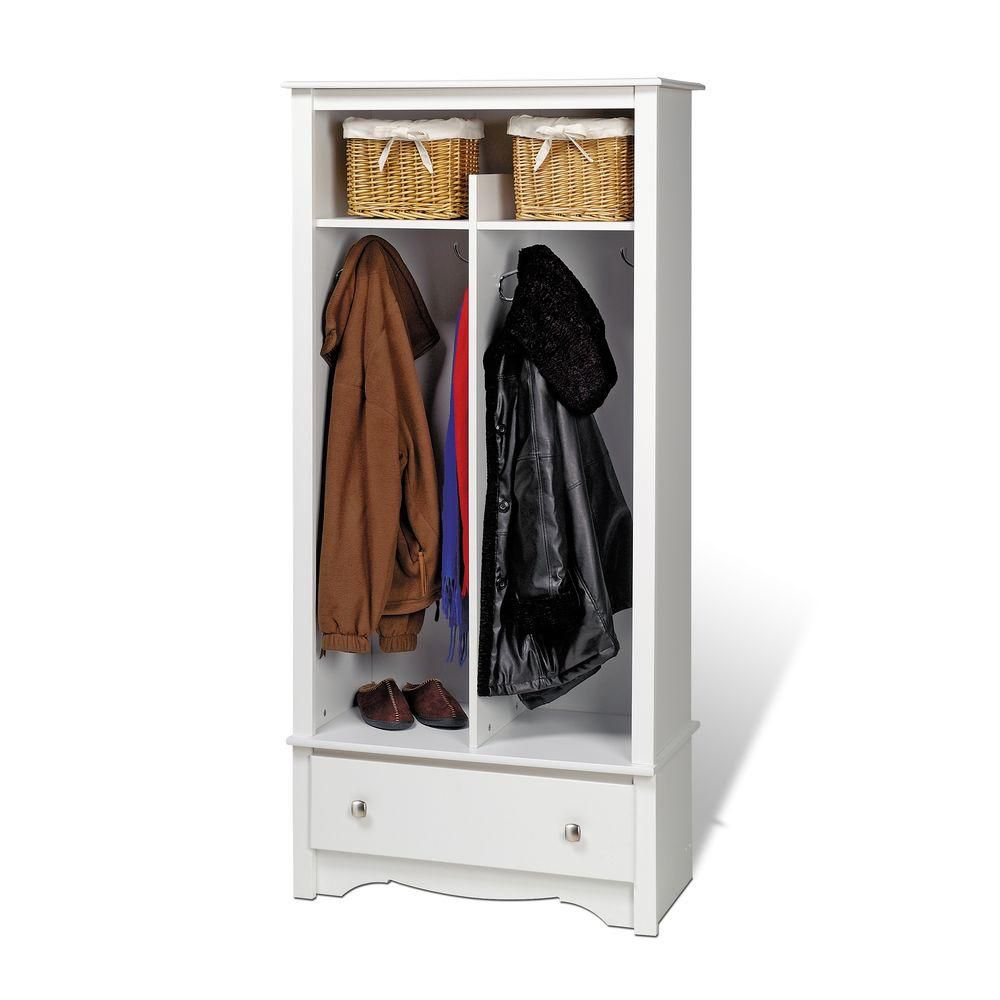 Mudroom Organizers Storage : Prepac white entryway organizer the home depot canada