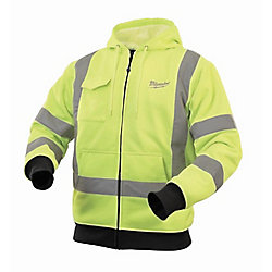 Milwaukee Tool M12 Cordless High-Visibility Heated Hoodie Kit - Triple Extra Large