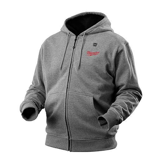 Milwaukee Tool M12 Cordless Gray Heated Hoodie Only - Small