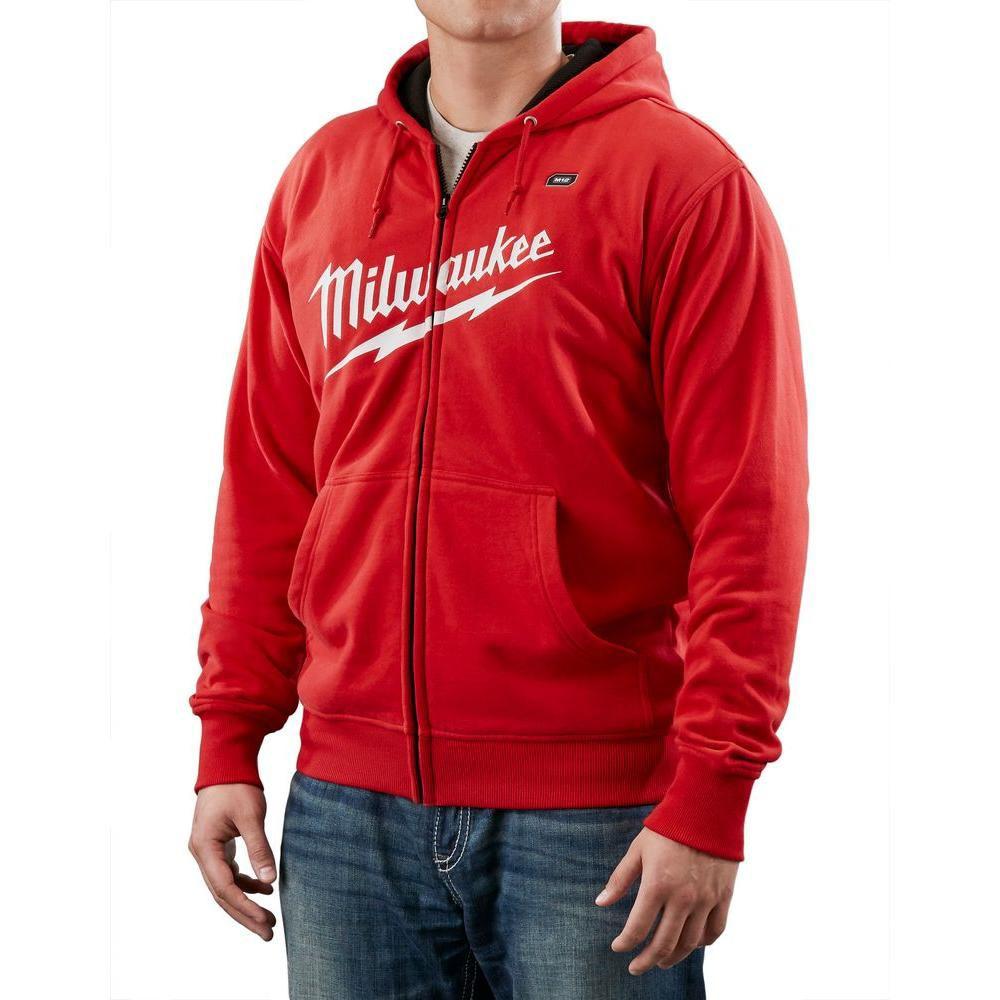 Ensemble de veste chauffante à capuchon sans fil rouge M12  -  très grand X2
