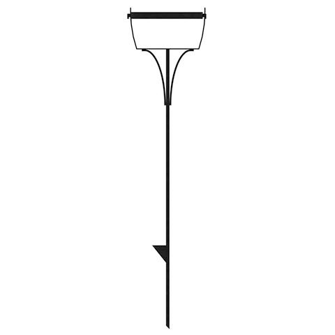 Peak Products 10-inch Pivoting Pot Stake in Black