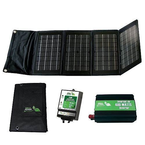 Nature Power 40-Watt Folding Solar Panel Kit