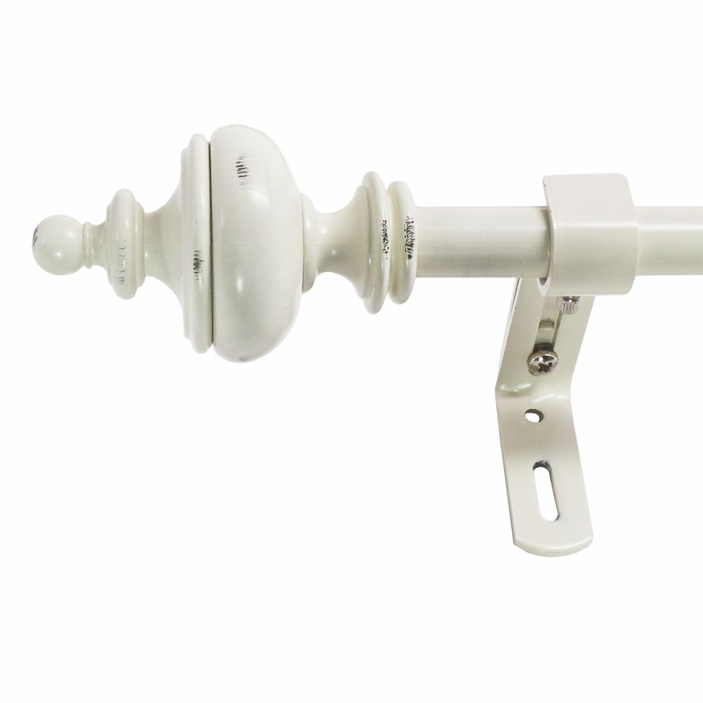 86-128 Inch 5/8 Inch Urn Rod Set In Distressed White Finish 6.80656E 11 Canada Discount