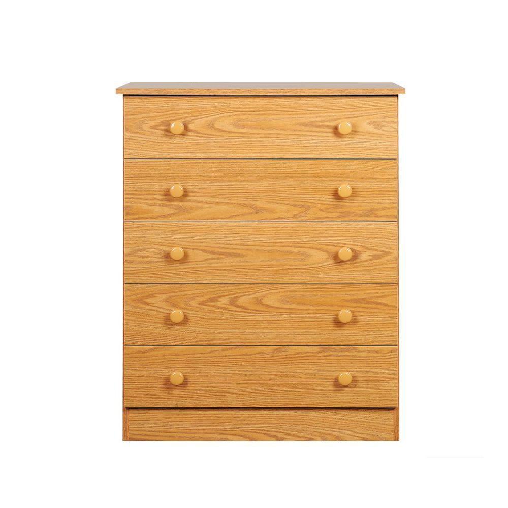 Oak Edenvale 5 Drawer Chest OBD-3038-5LT Canada Discount