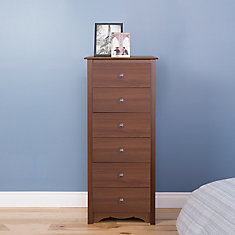 Cherry 23.25-inch x 53-inch x 17.75-inch 6-Drawer Chest in Cherry