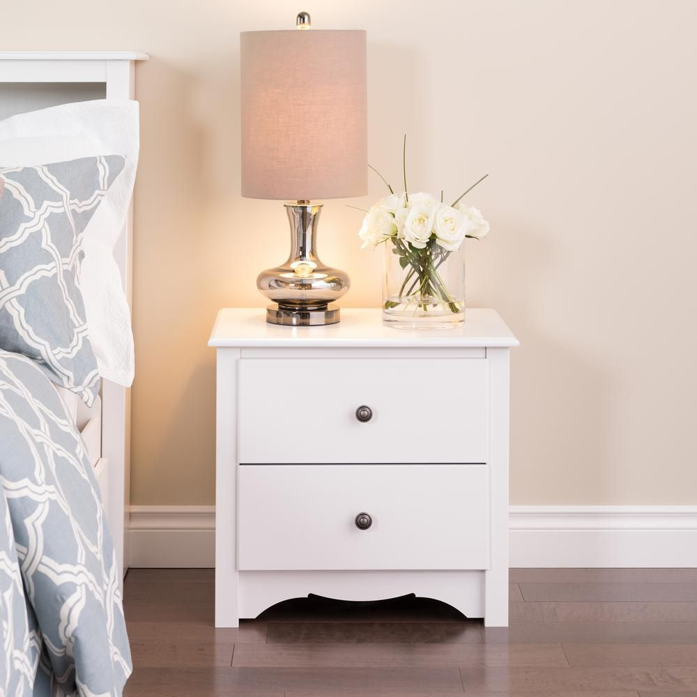 white dresser and nightstand prepac white monterey 2 drawer nightstand the home depot 17831