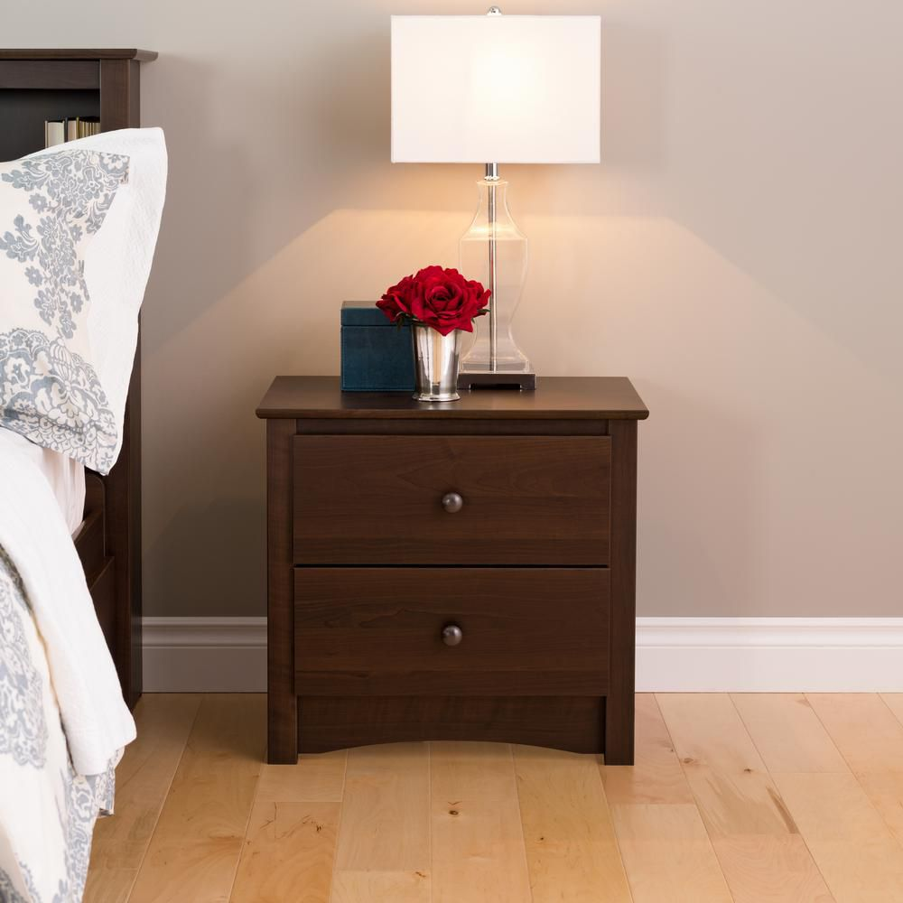 Espresso Fremont 2 Drawer Nightstand