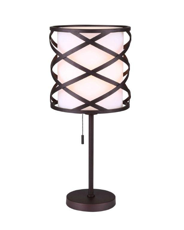 Carlina 1 Light ORB Table Lamp ITL520AORB in Canada