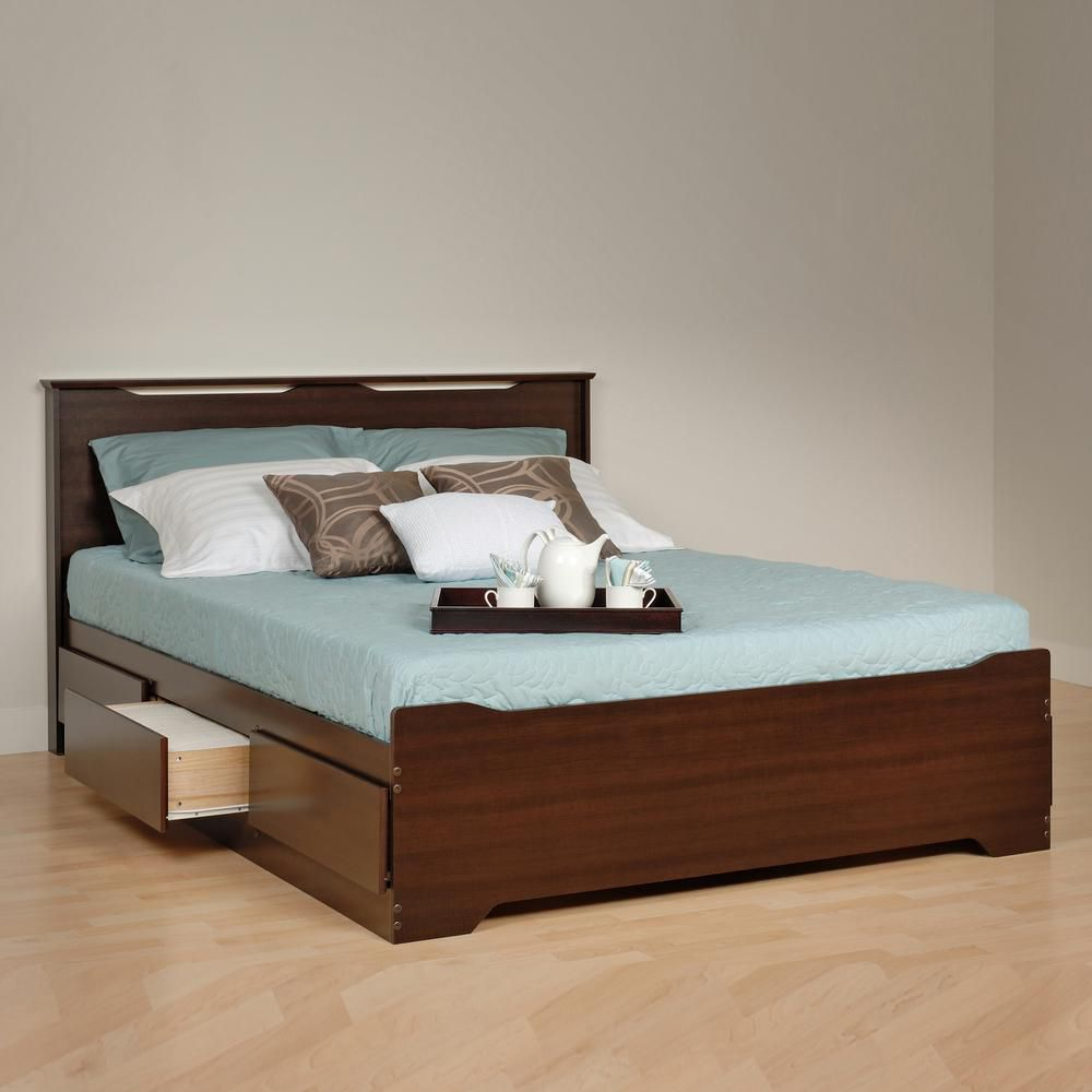 that nightstands with platform headboard combo their nightstand uniqueness room the built bed modern in complete