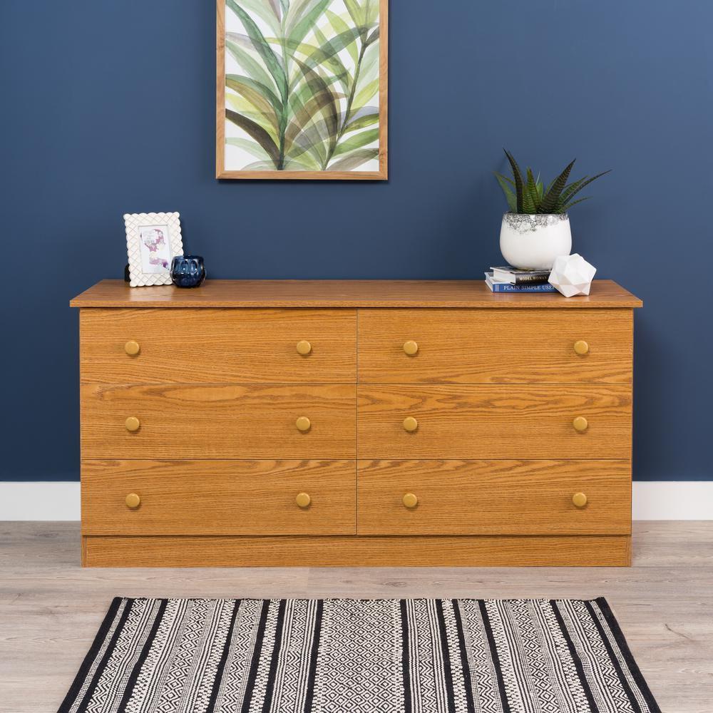 Oak Edenvale 6 Drawer Dresser