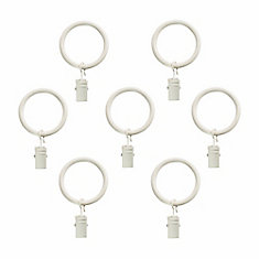 5/8 Inch Clip Rings (7/pk) In Distressed White Finish