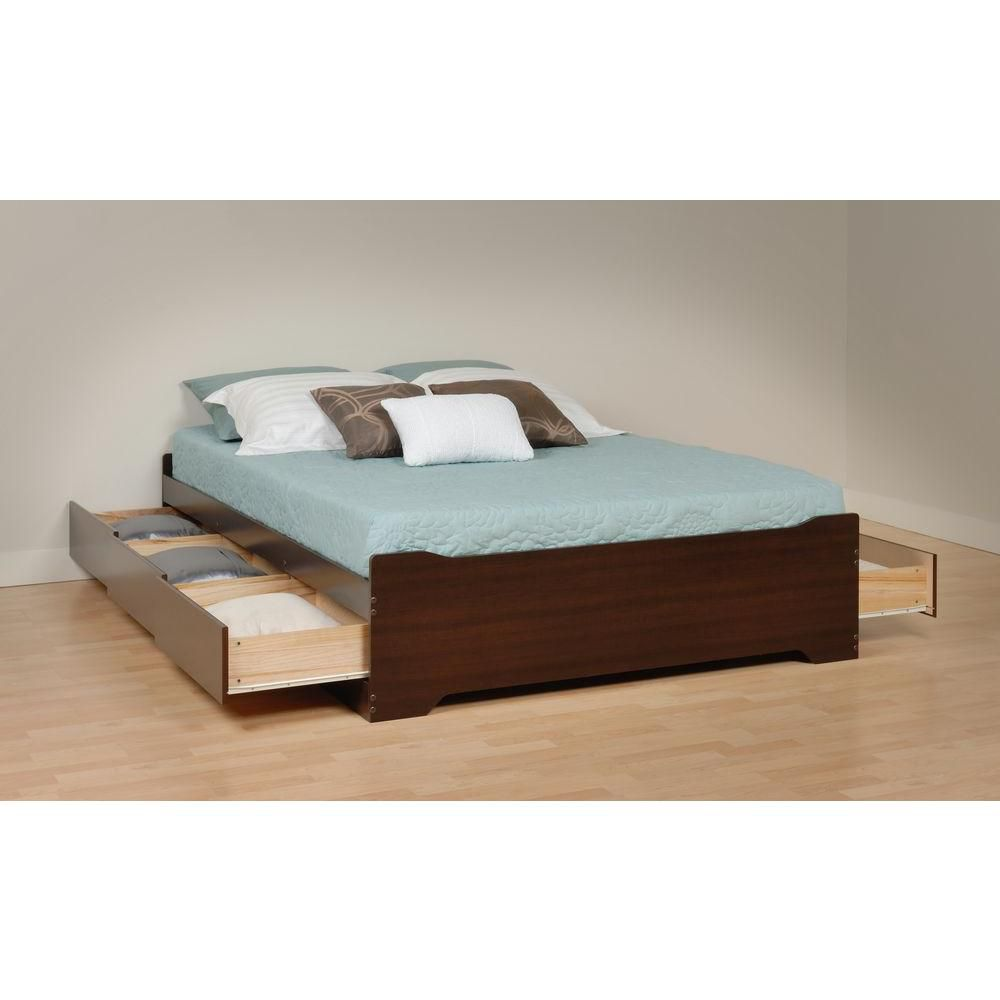Prepac Espresso Coal Harbour Full Mate's Platform Storage Bed with 6 Drawers