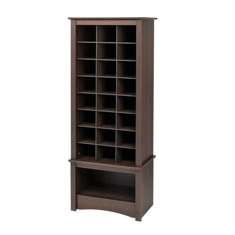 prepac grande armoire compartiments pour chaussures expresso home depot canada. Black Bedroom Furniture Sets. Home Design Ideas