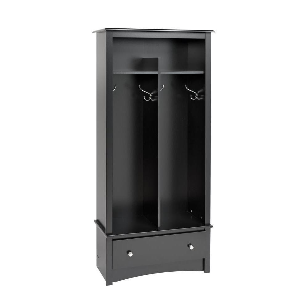 Mudroom Storage Home Depot Canada : Prepac black entryway organizer the home depot canada