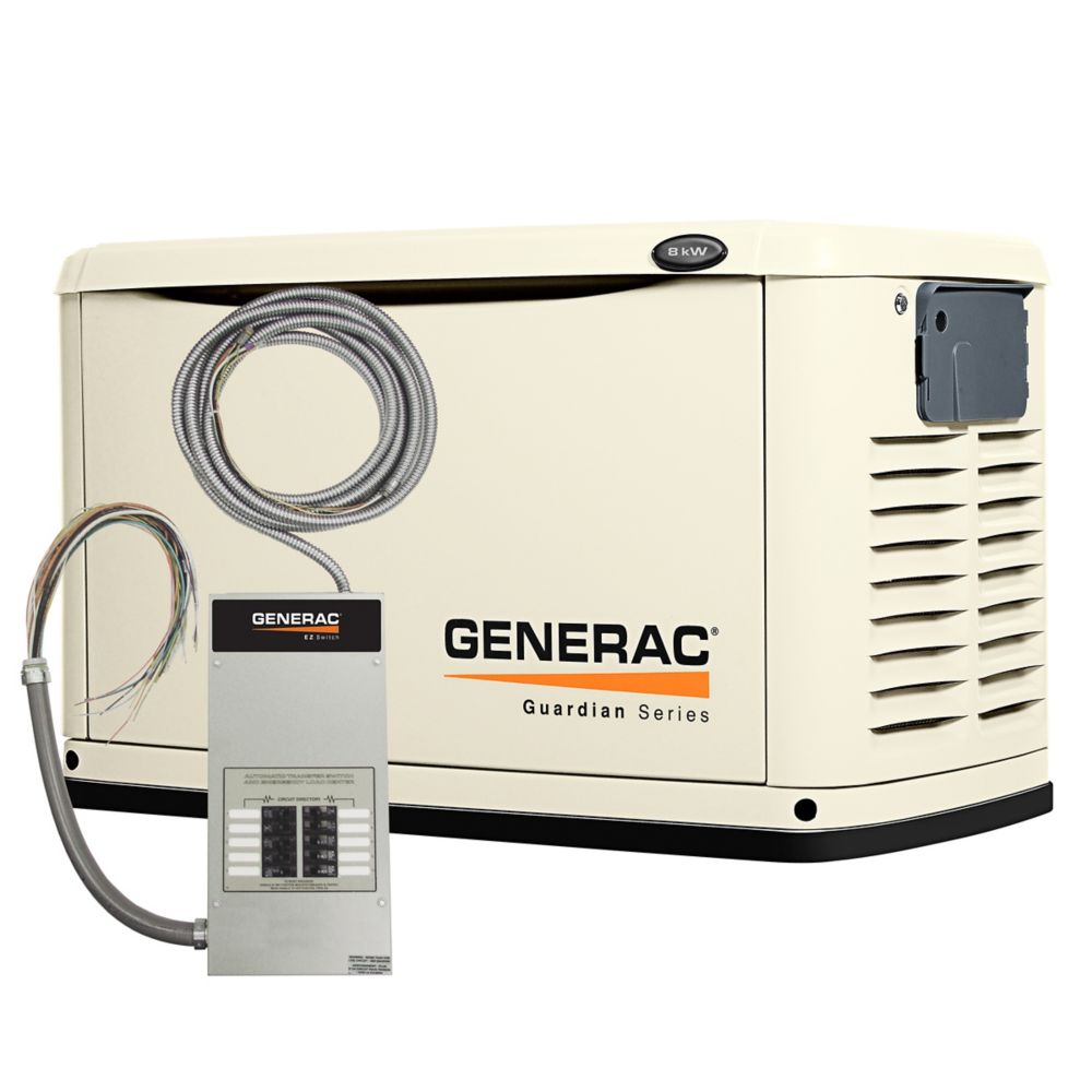 generac 8 000 watt automatic standby generator with 50 amp pre wired 10 circuit transfer switch Main Breaker Panel Wiring Diagram Breaker Panel Wiring Diagram