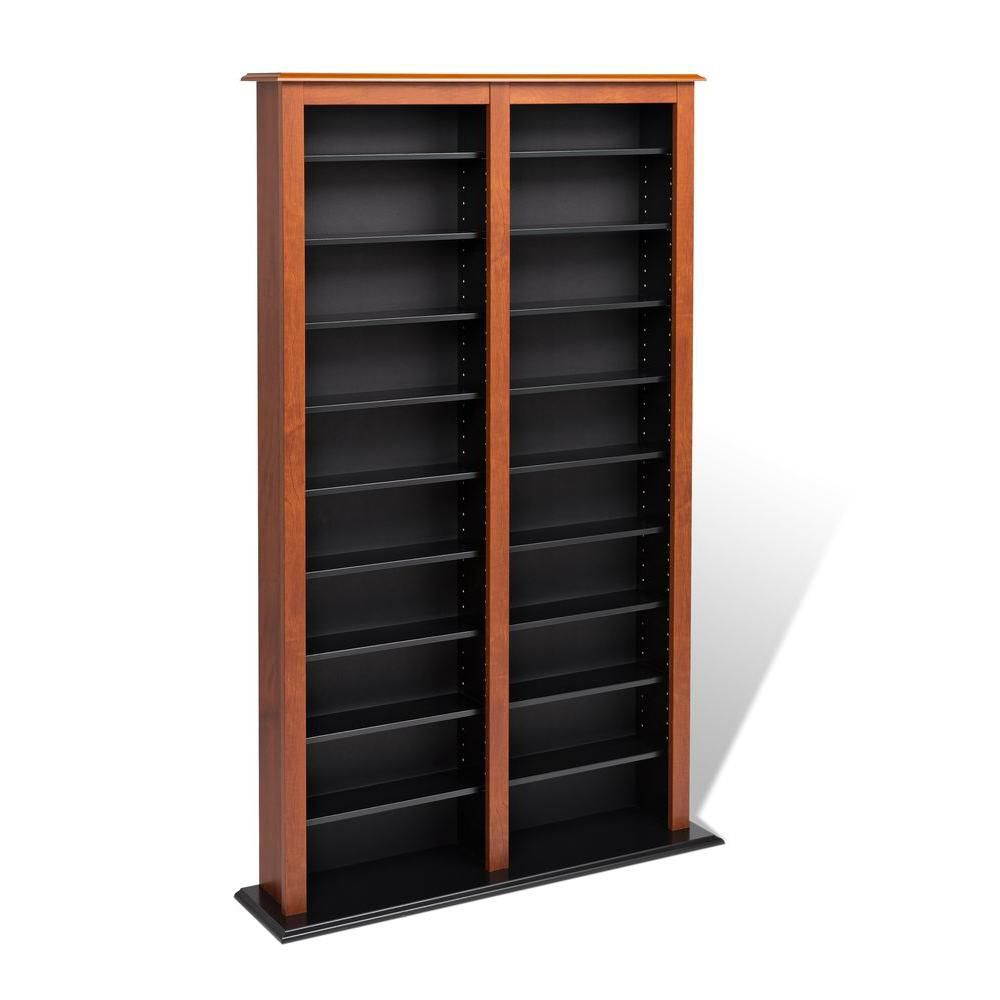 Cherry & Black Double Width Barrister Tower