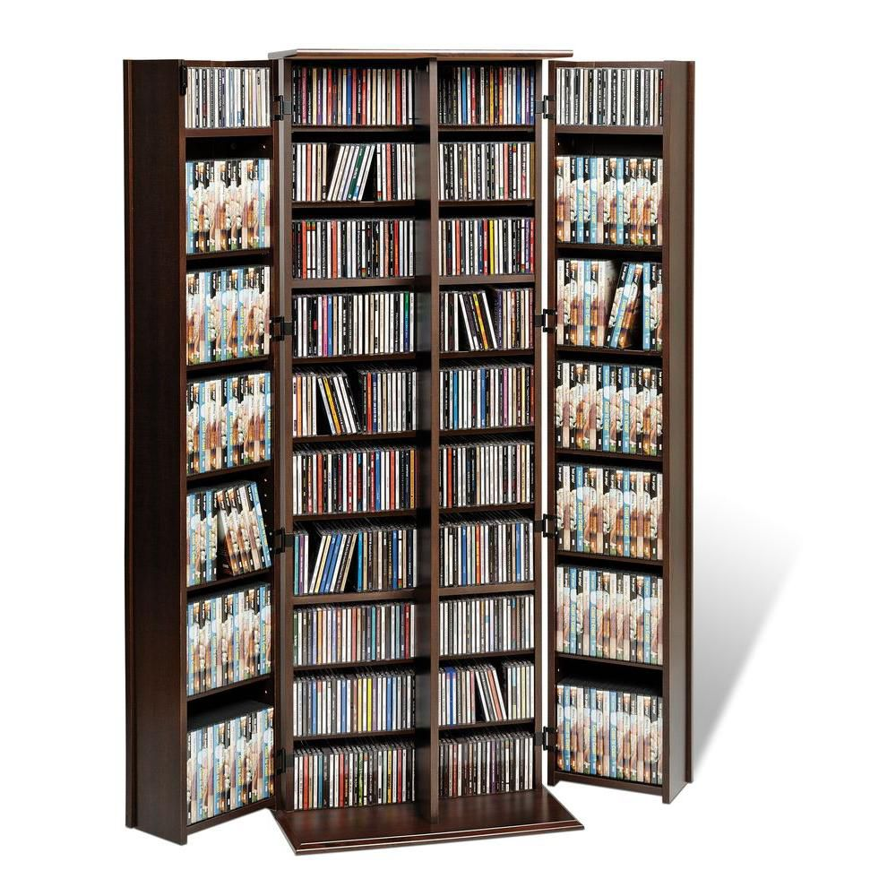 Prepac Espresso Grande Locking Media Storage Cabinet with Shaker Doors