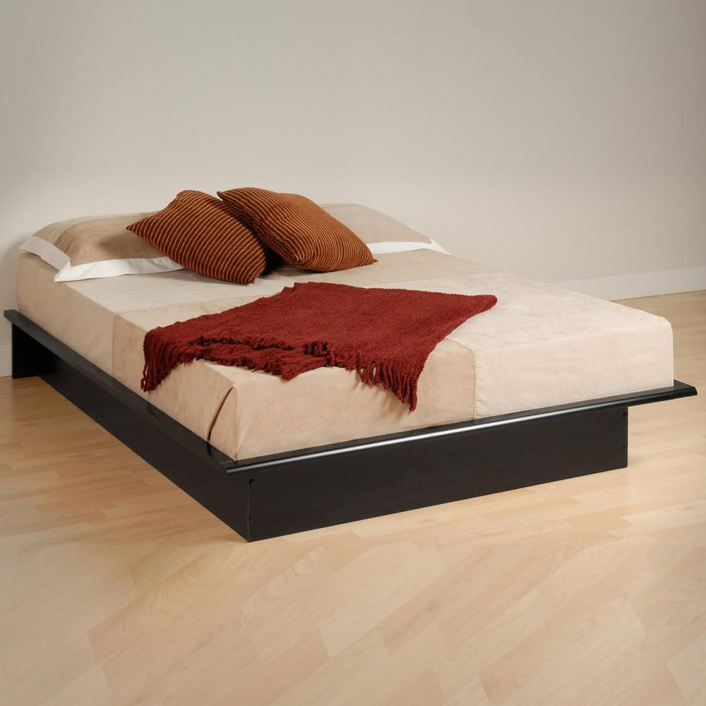 Prepac base de lit plateforme double noire home depot for Base de lit double kijiji